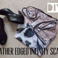 What i made… Leather edged infinity scarf