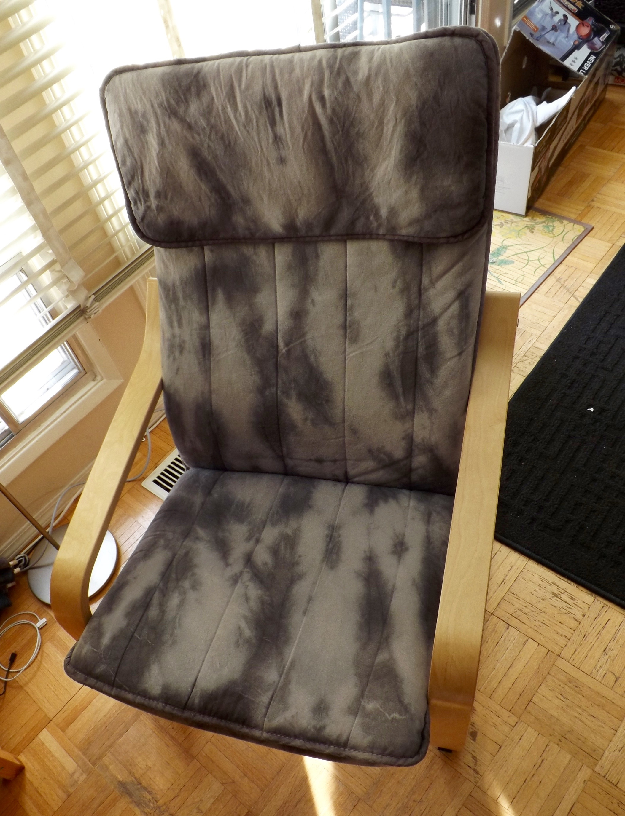 a chair renewed with tie dye victoria day to day