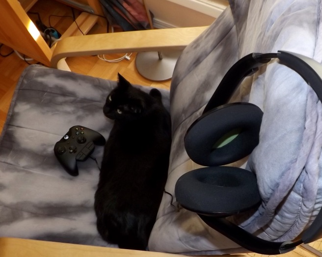 Stella in the gaming chair. victoriadaytoday.com