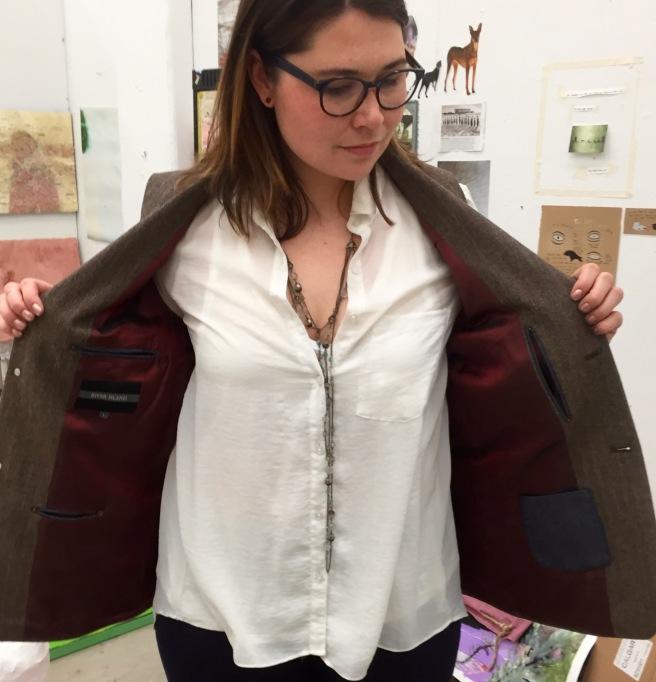 Refashioned menswear vest lined