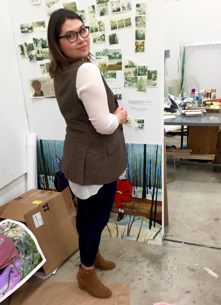 Refashioned menswear vest shoulder look