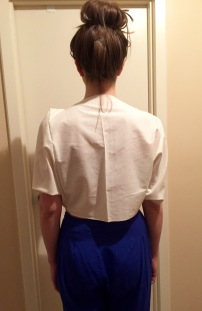 Muslin back view for the Halie top. A pattern by Victoria Hedin
